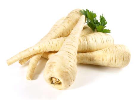 Fresh parsnips on white background - Isolated 版權商用圖片