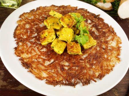 Fresh Food - Yams Root Pancake with Curry Tofu