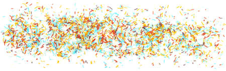 Colorful Sugar Sprinkles Banners on White Background - Isolated