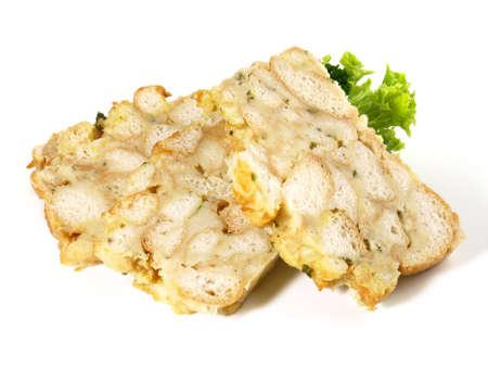 Bread Dumpling Slices on white background - Isolated 版權商用圖片