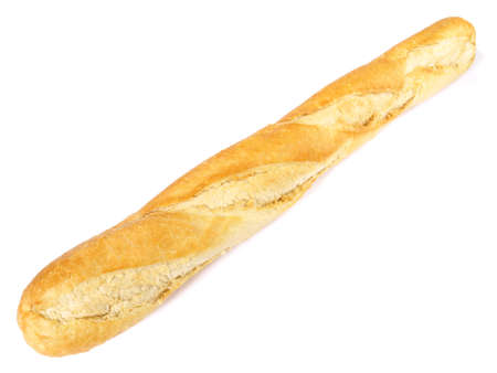 French baguette on on white background - Isolated