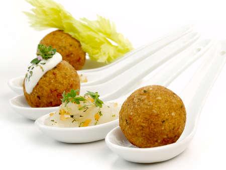 Falafel Snack - Finger Food on White Background - Isolated 版權商用圖片