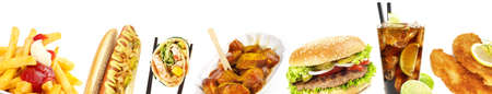 Fast Food Panorama - Isolated 版權商用圖片