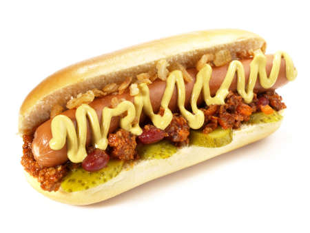Chili Con Carne Hot Dog - Isolated