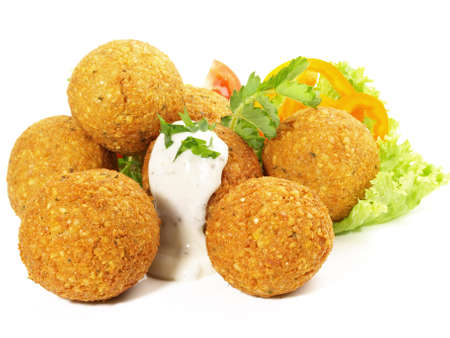 Falafel Snack - Fast Food on White Background - Isolated