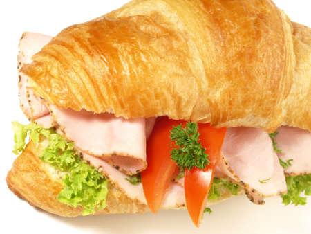 Croissant with Ham - Isolated 版權商用圖片
