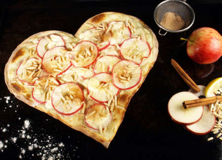 Sweet Tarte Flambee with Creme Fraiche and Apple