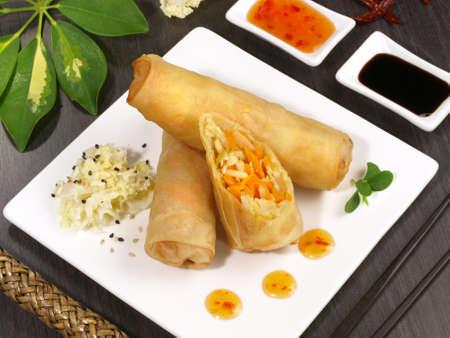 Spring Rolls - Fast Food 版權商用圖片