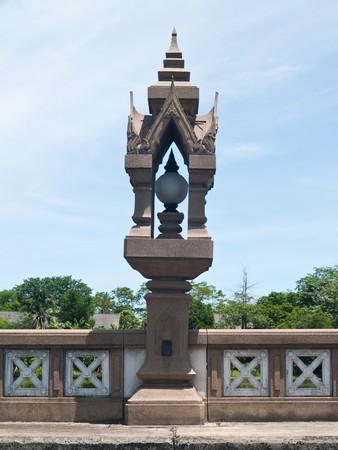 balustrade: Balustrade lamp in Buddhamonthon, Nakhon Pathom, Thailand