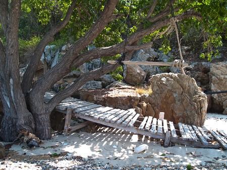 Swing near the beach at Ko Kham island, Sattahip, Chon Buri, Thailand photo