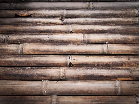 Texture of old style dirty bamboo floor photo
