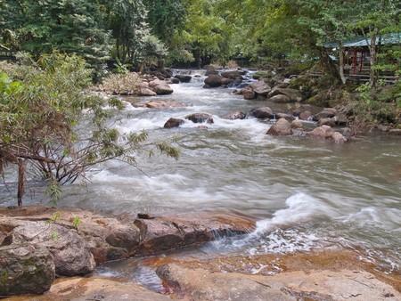 Some level of Nangrong waterfall, Khao Yai National Park, Nakhon Nayok, Thailand photo