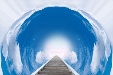The shortcut to heaven in beautiful circle sky