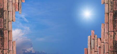 parapet: Parapet with beautiful sky in open area