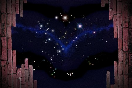 coma: Parapet with beautiful stars of outerspace include constellation of Aries, Auriga, Camelopardalis, Cancer, Canes Venatici, Canis Major, Canis Minor, Cassiopeia, Coma Berenices, Eridanus, Gemini, Hydra, Leo, Leo Minor, Lepus, Lynx, Monoceros, Orion, Perseu Stock Photo