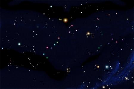 constelaciones: Gr�fico de estrellas de cielo sur incluyen 25 constelaciones organizar la posici�n real de seguimiento