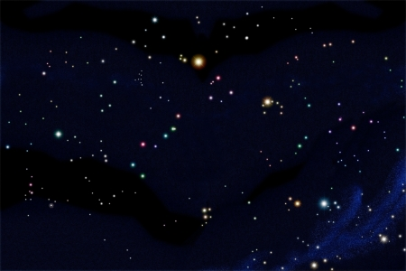 crater: South sky star chart include 25 constellations arrange follow real position