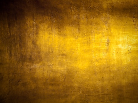 sleek: Antique golden grunge background with highlight texture
