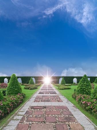 The shortcut to heaven pass through paradise garden Stock Photo - 9517021