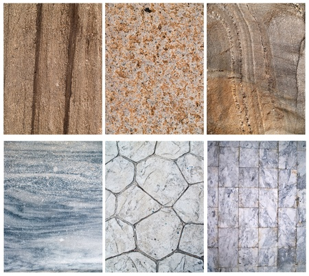 Various abstract pattern of grunge stone surface photo