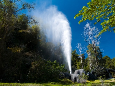Fang Hot Springs(Mae Fang National Park), Mon Pin, Fang, Chiang Mai, Thailand Stock Photo