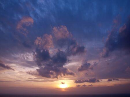 Romantic sea with beautiful twilight sky in Thailand photo