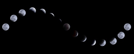 Lunar eclipse on 10 December 2011, Bangkok, Thailand Stock Photo