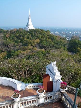 king palace: Khao Wang Phra Nakhon Khiri Historical Park, Holy City Hill , Old King Palace in this view is Phra That Jom Phet and Petchaburi city, Petchaburi, Thailand