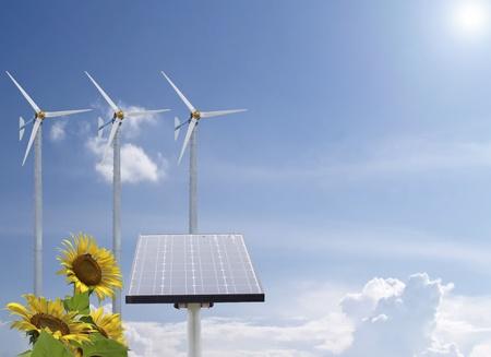fresh air: L'energia alternativa con girasoli e aria pura