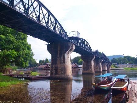 The bridge of the river kwai, The monument of WWII, Kanchanaburi, Thailand photo