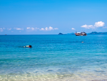 Skindive and cruising at Ko Kham island, Sattahip, Chon Buri, Thailand Stock Photo - 16852022