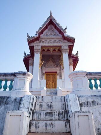 king palace: Wat Phra Kaew in Khao Wang Phra Nakhon Khiri Historical Park, Holy City Hill , Old King Palace ,Petchaburi, Thailand