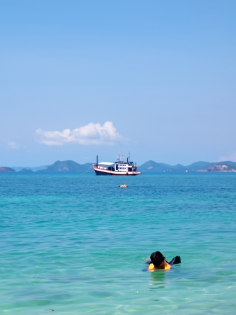 Skindive and cruising at Ko Kham island, Sattahip, Chon Buri, Thailand Stock Photo - 17175014