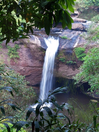 Haew Suwat Waterfall, Khao Yai National Park, Nakhon Nayok, Thailand. This national park is elect as world heritage forest complex from UNESCO photo