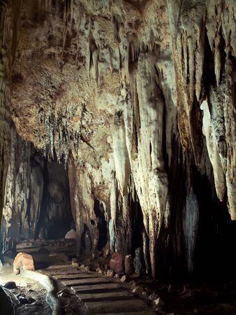 Trail in Tham Khao Bin cave, Ratchaburi, Thailand