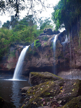Haew Suwat Waterfall, Khao Yai National Park, Nakhon Nayok, Thailand.  photo