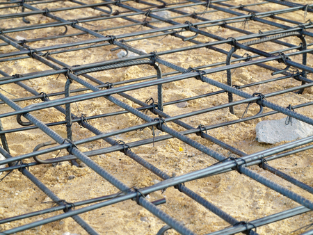 formwork: Concrete forms and steel installation for the floor