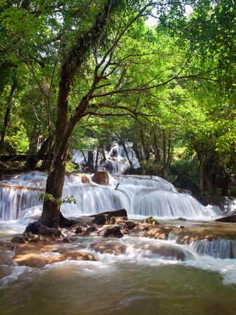 Pha Tat Waterfall, Khuean Srinagarindra National Park, Kanchanaburi, Thailand photo