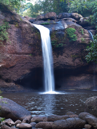 elect: Haew Suwat Waterfall, Khao Yai National Park, Nakhon Nayok, Thailand. This national park is elect as world heritage forest complex from UNESCO