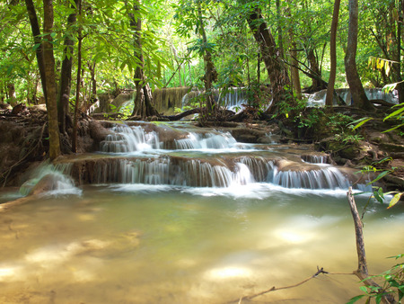 rill: Seventh floor of Huay Mae Kamin Waterfall, Khuean Srinagarindra National Park, Kanchanaburi, Thailand