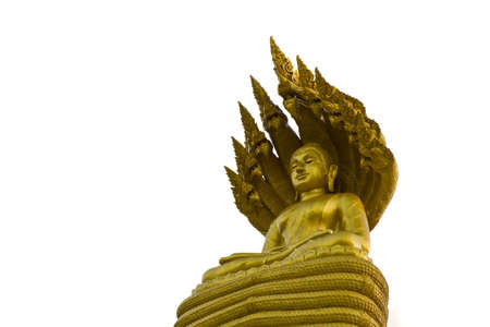 Isolation of Buddha statue with 9 head nagas Stock Photo - 7235042