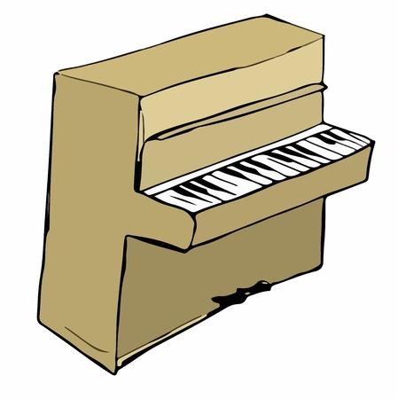 etude: Cartoon illustration of piano