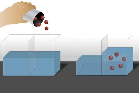 Illustratie van een osmose-mechanisme