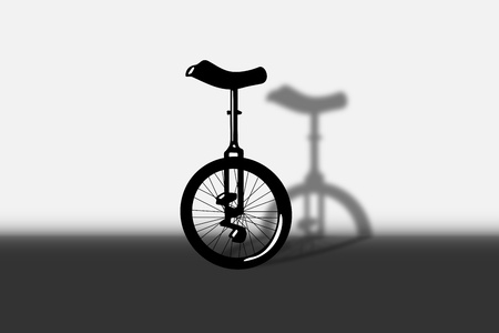 Illustration of portrait of unicycle