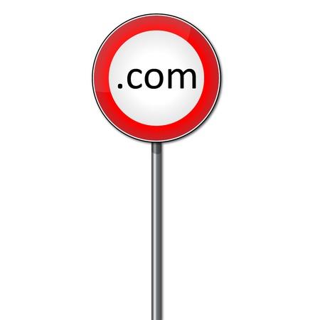 Roadsign banning .com domains