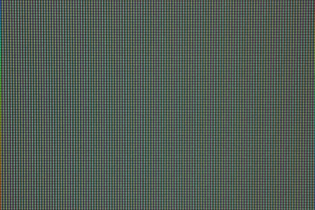 Real macro photo of RGB matrix on LCD display panel