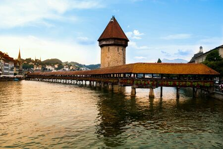 Old wooden bridge in luzern Switzerland suisse