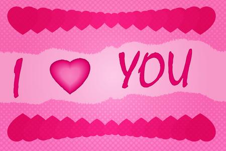 Simple pink vector Valentine Illustration