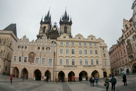 Look on Old town square in Prague, Czech Republic Stock Photo