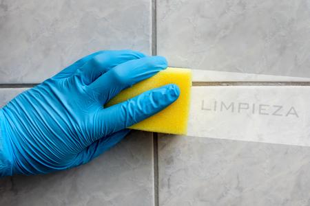 Esponja de limpeza segura na m